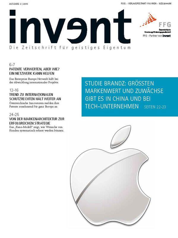 Bucheinband von 'invent - Die Zeitschrift für geistiges Eigentum, Band 2|2015'