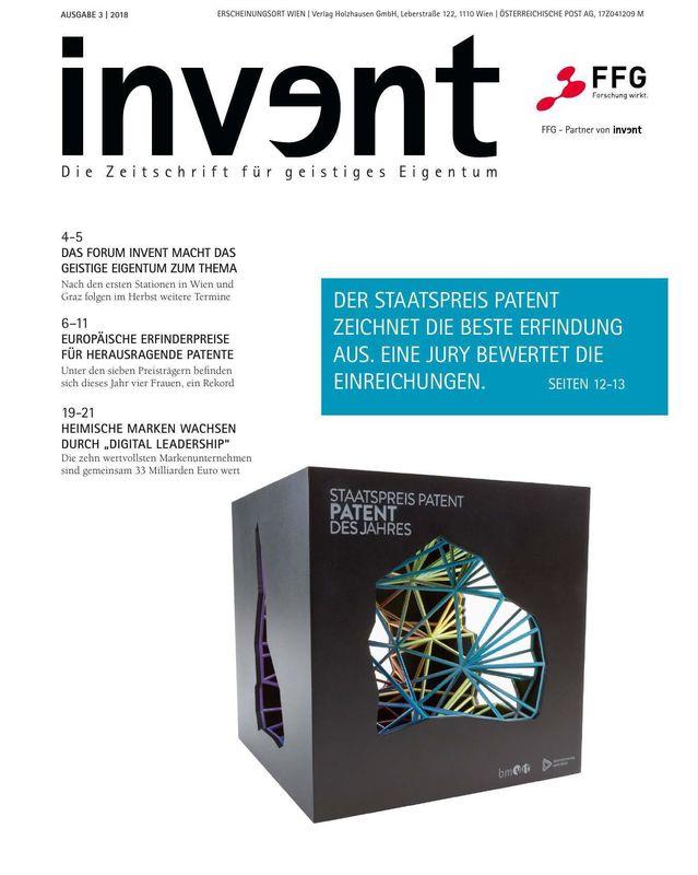 Bucheinband von 'invent - Die Zeitschrift für geistiges Eigentum, Band 3|2018'