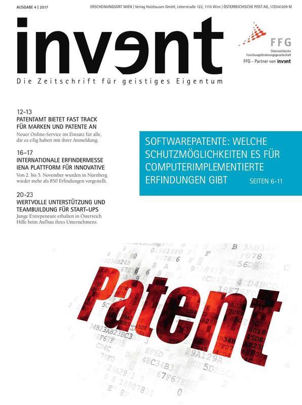 Cover of the book 'invent - Die Zeitschrift für geistiges Eigentum, Volume 4|2017'