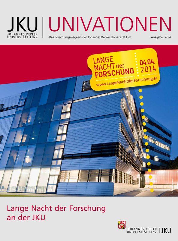 Cover of the book 'JKU Univationen - Das Forschungsmagazin der Johannes Kepler Universität Linz, Volume 2/14'