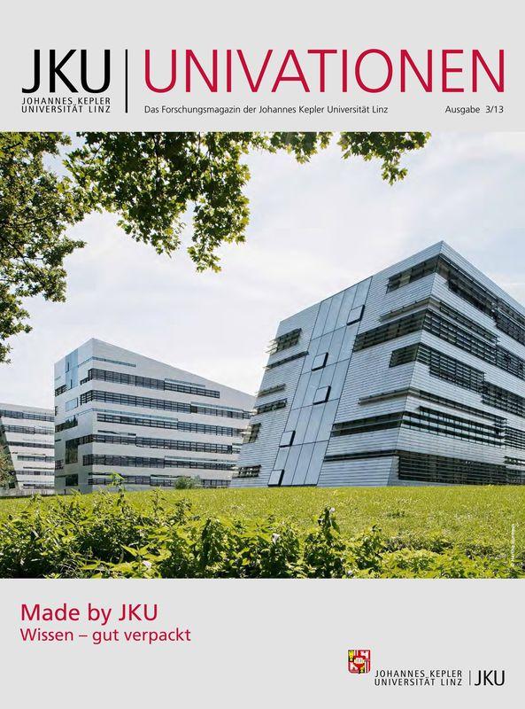 Bucheinband von 'JKU Univationen - Das Forschungsmagazin der Johannes Kepler Universität Linz, Band 3/13'
