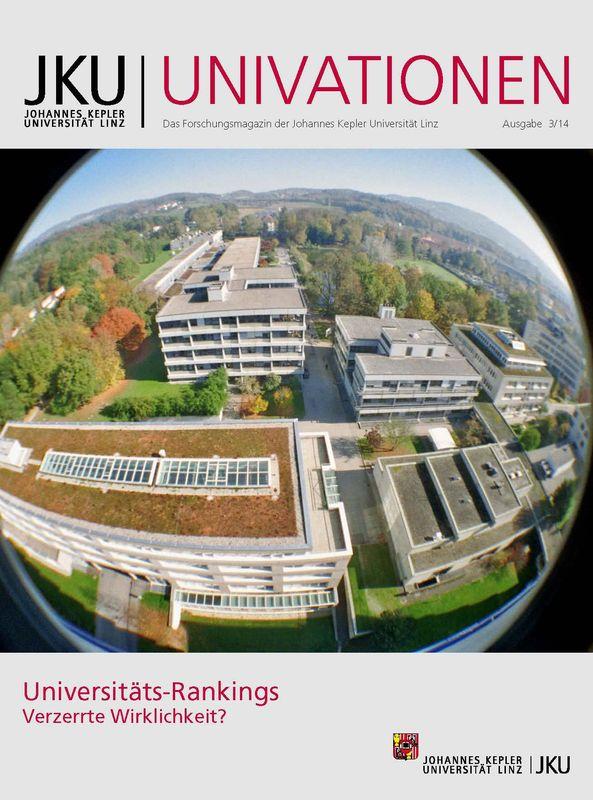 Bucheinband von 'JKU Univationen - Das Forschungsmagazin der Johannes Kepler Universität Linz, Band 3/14'