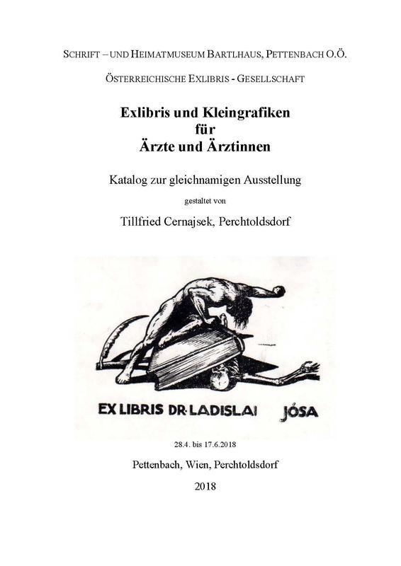 Cover of the book 'Exlibris und Kleingrafiken für Ärzte und Ärztinnen - Katalog zur gleichnamigen Ausstellung'