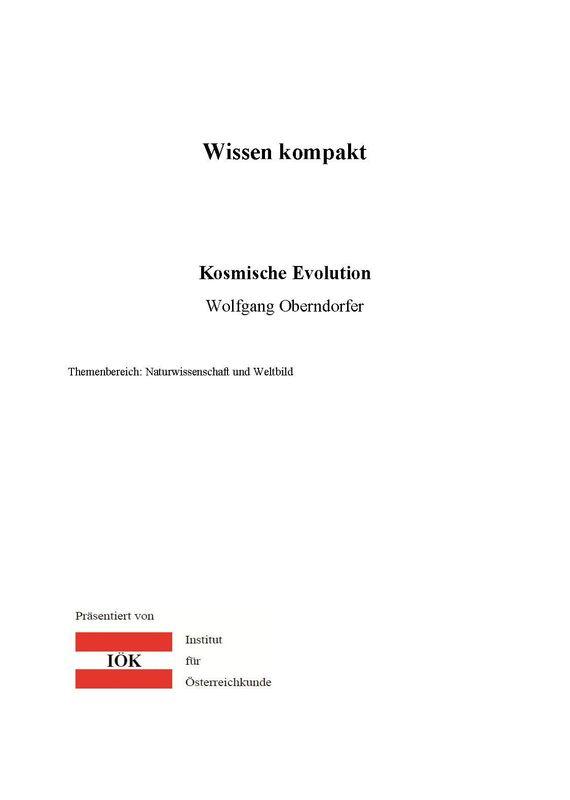 Bucheinband von 'Wissen kompakt - Kosmische Evolution'