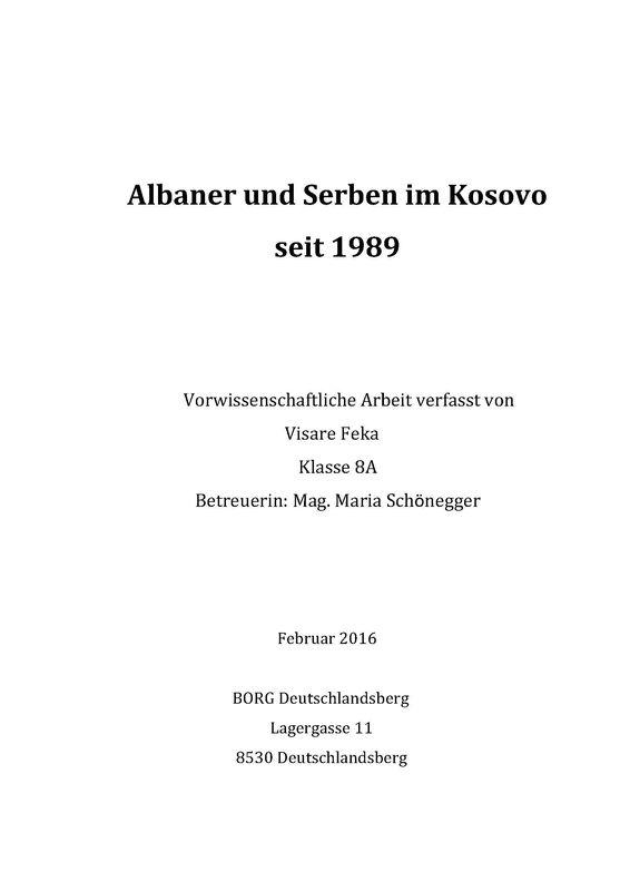 Bucheinband von Albaner und Serben im Kosovo seit 1989