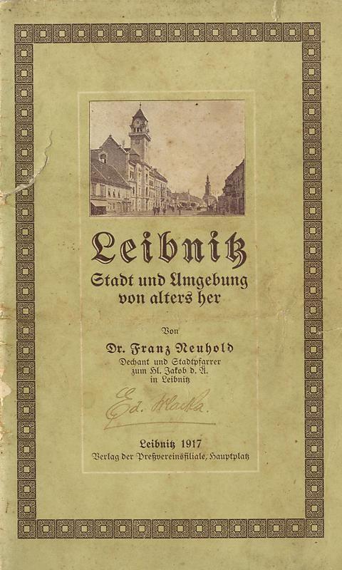 Bucheinband von 'Leibnitz - Stadt und Umgebung von alters her'