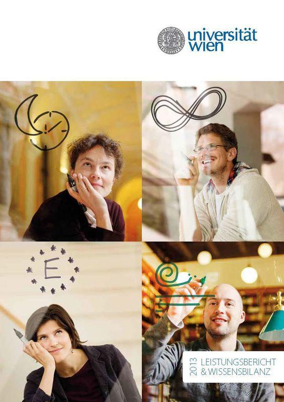 Bucheinband von 'Leistungsbericht & Wissensbilanz 2013 der Universität Wien'