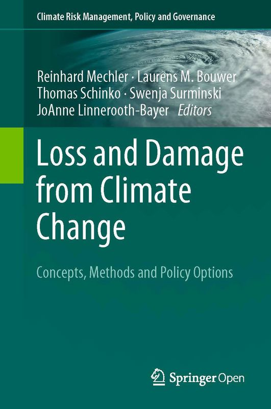 Bucheinband von 'Loss and Damage from Climate Change - Concepts, Methods and Policy Options'
