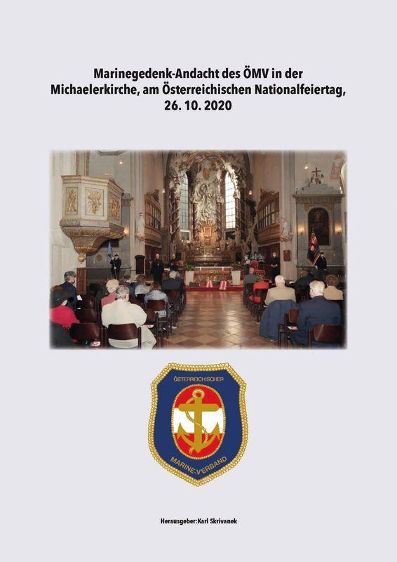 Bucheinband von 'Marinegedenk-Andacht des ÖMV in der Michaelerkirche - Österreichischen Nationalfeiertag, 26. 10. 2020'