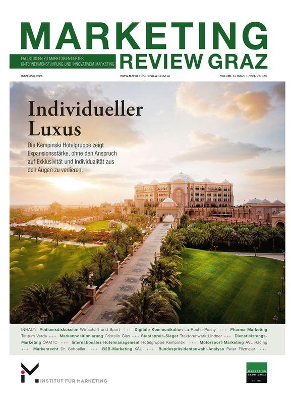 Bucheinband von 'Marketing Review Graz - Fallstudien zu marktorientierter Unternehmensführung und Innovativem Marketing, Band 6, Nr.1'