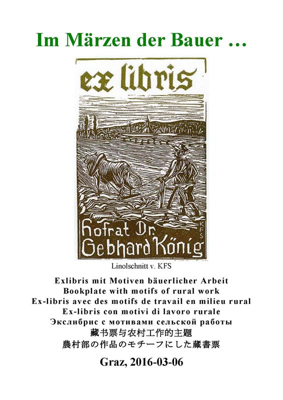 Cover of the book 'Im Märzen der Bauer - Exlibris mit Motiven bäuerlicher Arbeit'