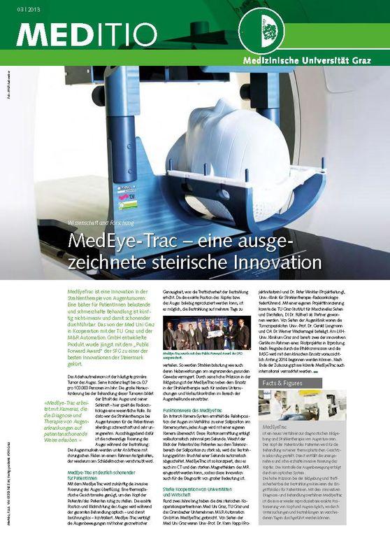 Bucheinband von 'MEDITIO - Neues von der steirischen Gesundheitsuniversität, Band 03|2013'