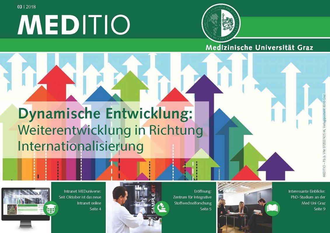 Cover of the book 'MEDITIO - Neues von der steirischen Gesundheitsuniversität, Volume 03|2018'