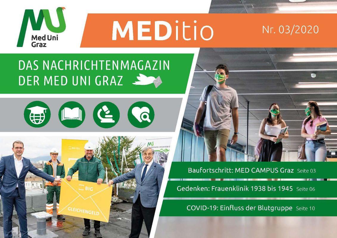 Bucheinband von 'MEDITIO - Neues von der steirischen Gesundheitsuniversität, Band 03|2020'
