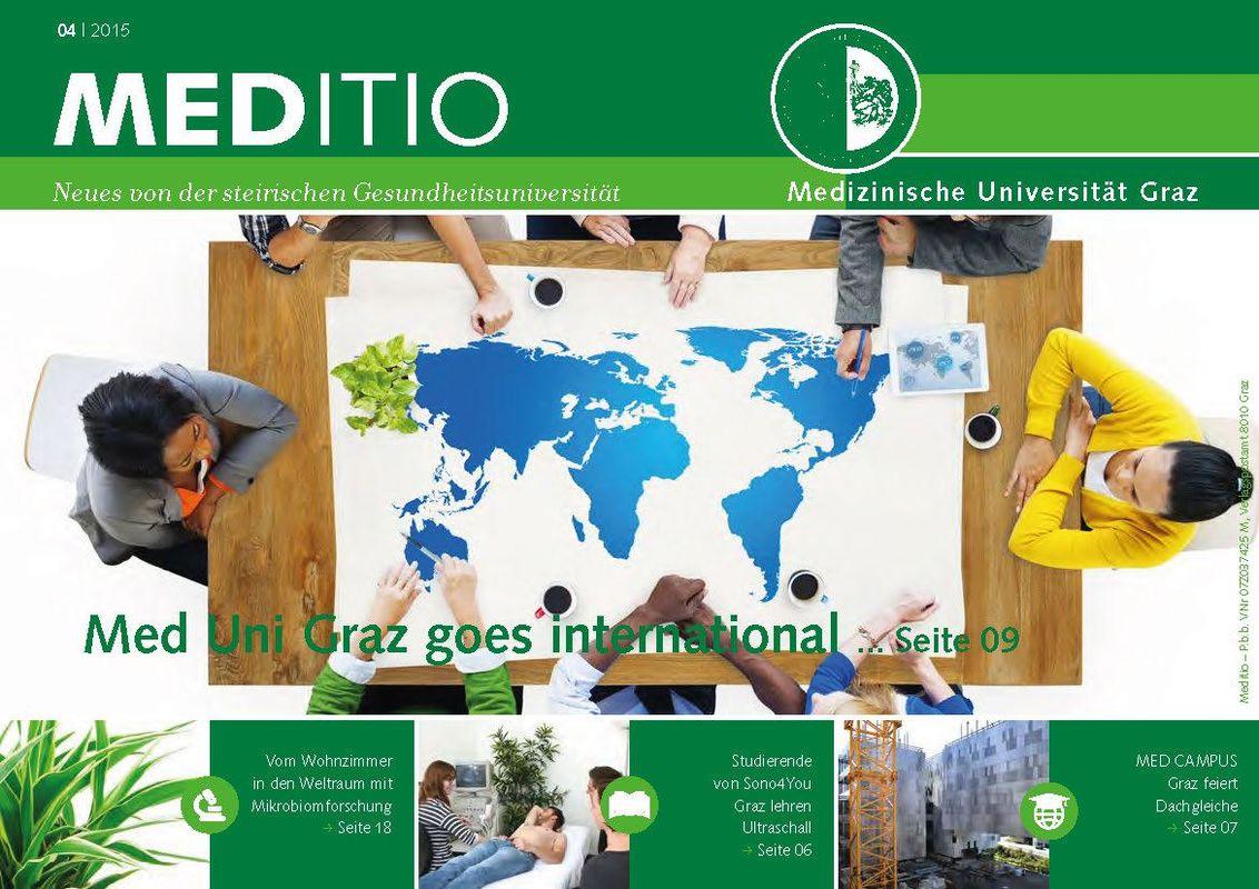Cover of the book 'MEDITIO - Neues von der steirischen Gesundheitsuniversität, Volume 04|2015'