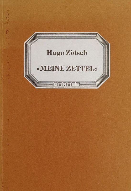 Bucheinband von 'Meine Zettel'