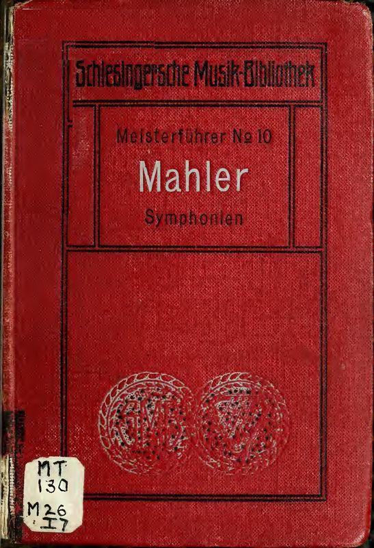 Bucheinband von 'Mahlers Symphonien - Meisterführer Nr. 10'