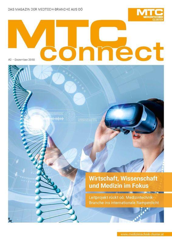 Bucheinband von 'MTC-connect - Das Magazin der Medtech-Branche aus OÖ, Band 2'