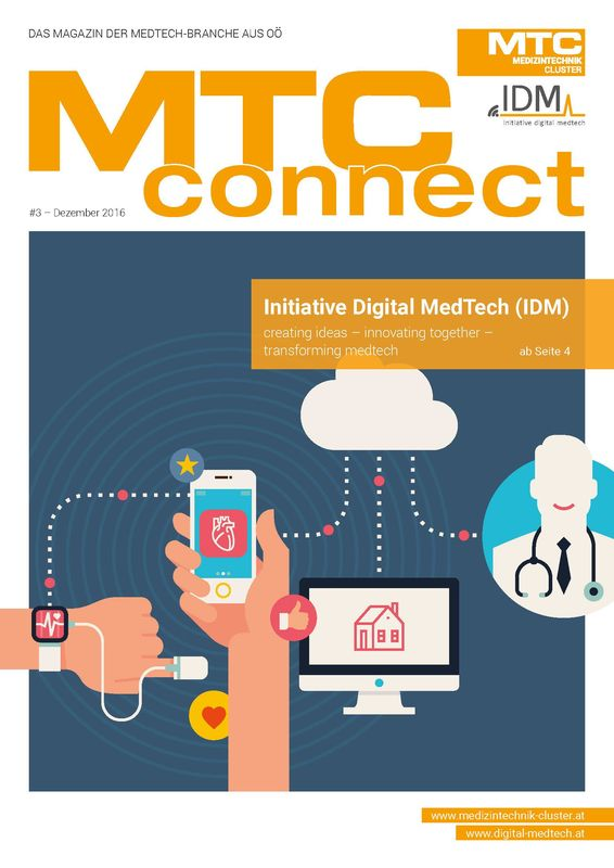 Bucheinband von 'MTC-connect - Das Magazin der Medtech-Branche aus OÖ, Band 3'