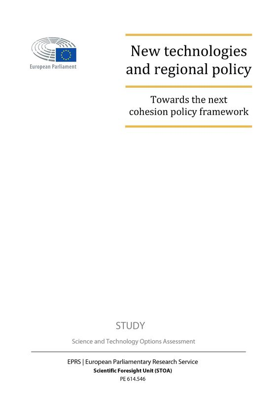 Bucheinband von 'New technologies and regional policy - Towards the next cohesion policy framework'