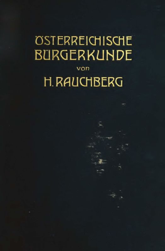 Bucheinband von 'Österreichische Bürgerkunde'