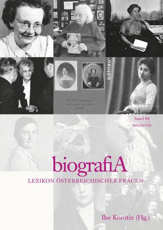 Bucheinband von 'biografiA. - Lexikon österreichischer Frauen, Band 4, Register'