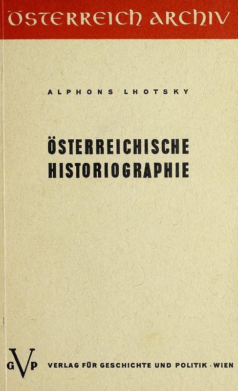 Bucheinband von 'Österreichische Historiographie'