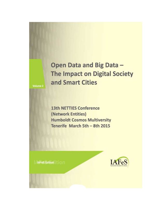 Bucheinband von 'Open Data and Big Data – The Impact on Digital Society and Smart Cities, Band 2'