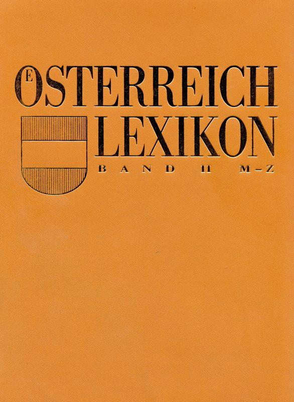 Bucheinband von 'Österreich Lexikon - Buchstabe M-Z, Band 2'