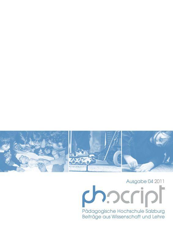 Bucheinband von 'ph.script - Beiträge aus Wissenschaft und Lehre, Band 4/2011'