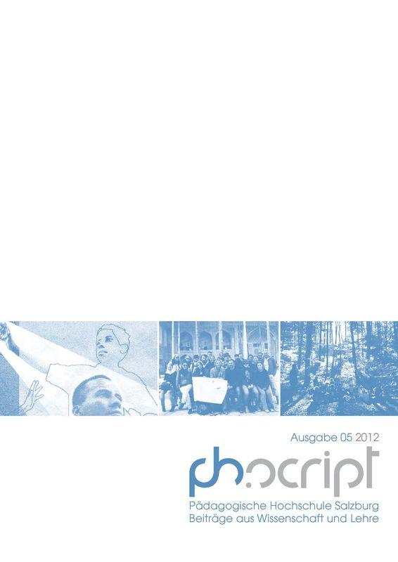 Bucheinband von 'ph.script - Beiträge aus Wissenschaft und Lehre, Band 5/2012'