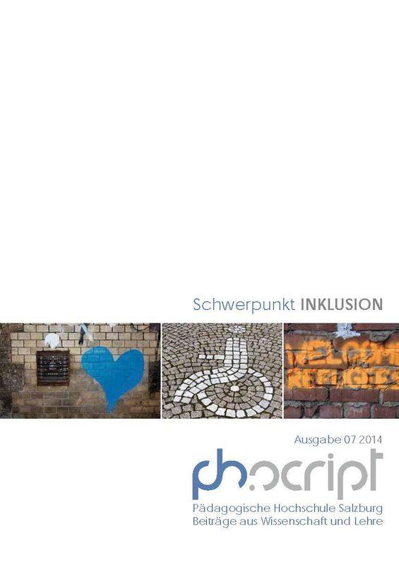 Bucheinband von 'ph.script - Beiträge aus Wissenschaft und Lehre, Band 7/2014'