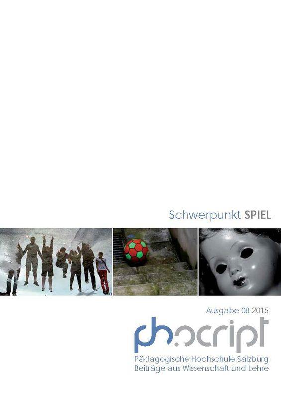 Bucheinband von 'ph.script - Beiträge aus Wissenschaft und Lehre, Band 8/2015'