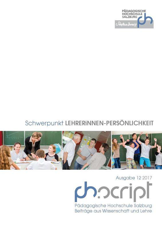 Bucheinband von ph.script - Beiträge aus Wissenschaft und Lehre, Band 12/2017