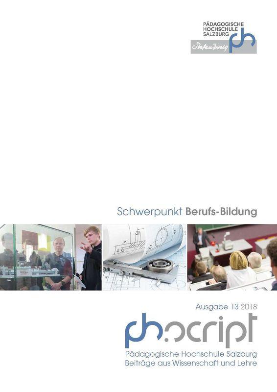 Bucheinband von 'ph.script - Beiträge aus Wissenschaft und Lehre, Band 13/2018'
