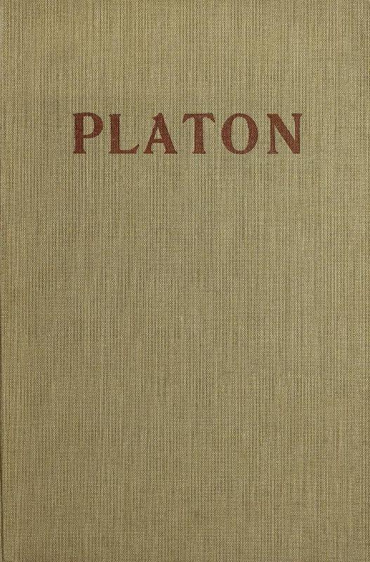 Cover of the book 'Platon - Das Soziologische in der Ideenlehre'