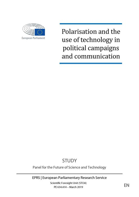 Bucheinband von 'Polarisation and the use of technology in political campaigns and communication'