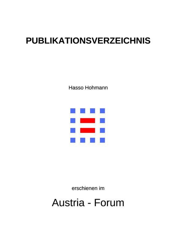 Bucheinband von 'Publikationsverzeichnis - für die Zitierungen im Austria Forum'