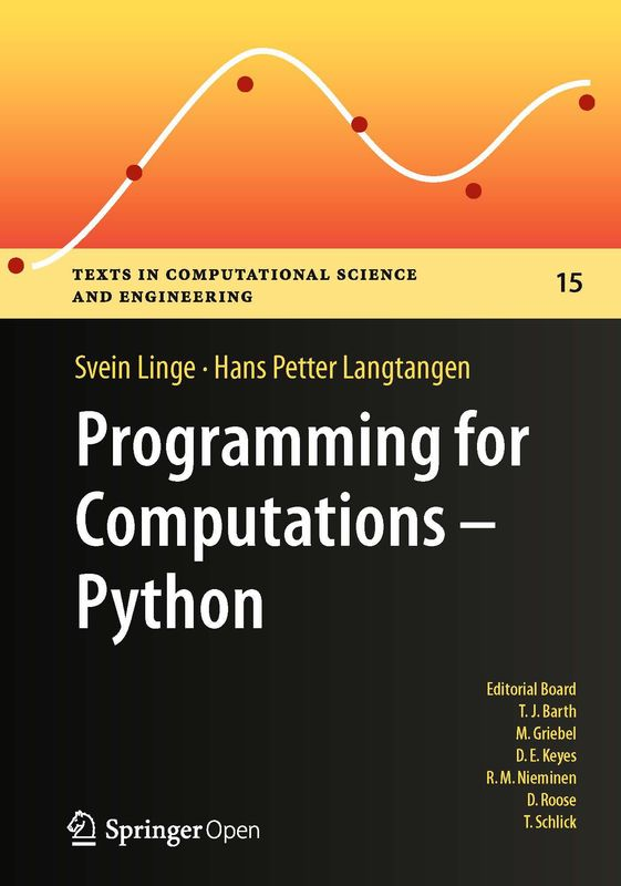 Bucheinband von 'Programming for Computations – Python - A Gentle Introduction to Numerical Simulations with Python'