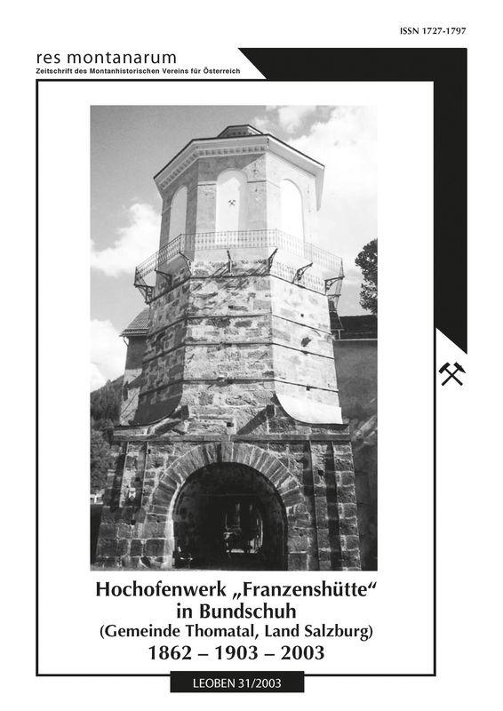 Bucheinband von 'res montanarum - Zeitschrift des Montanhistorischen Vereins für Österreich, Band 31'