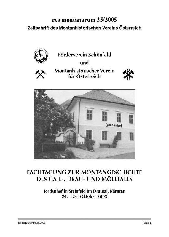 Bucheinband von 'res montanarum - Zeitschrift des Montanhistorischen Vereins für Österreich, Band 35'