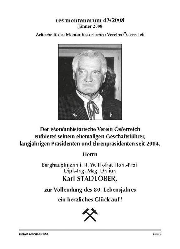 Bucheinband von 'res montanarum - Zeitschrift des Montanhistorischen Vereins für Österreich, Band 43'