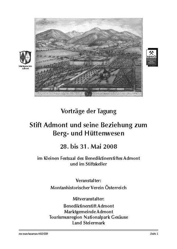 Bucheinband von 'res montanarum - Zeitschrift des Montanhistorischen Vereins für Österreich, Band 46'