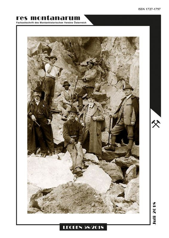 Bucheinband von 'res montanarum - Zeitschrift des Montanhistorischen Vereins für Österreich, Band 58'