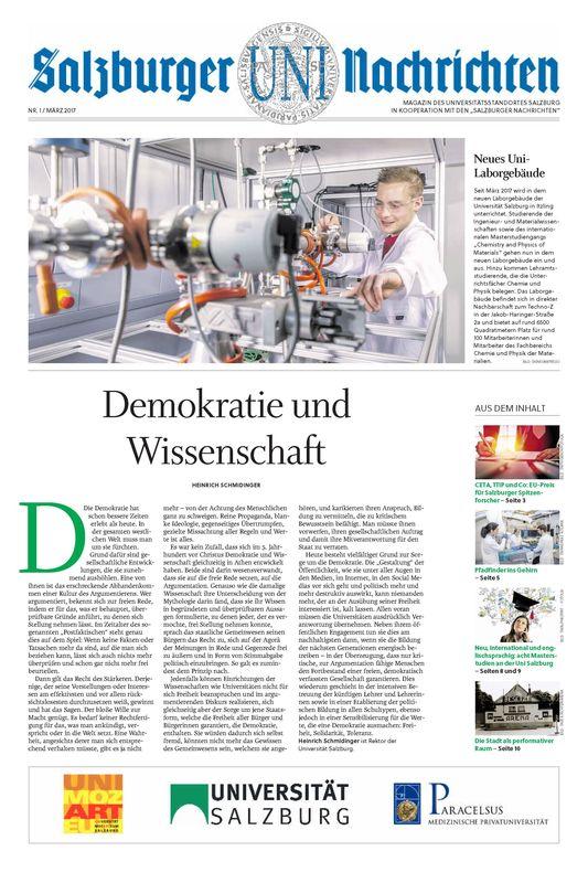 Bucheinband von 'Salzburger UNI Nachrichten, Band 1/2017'