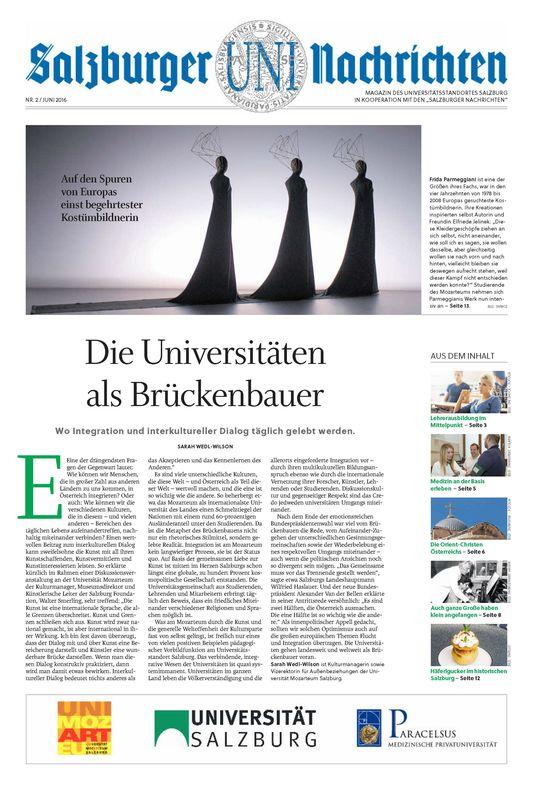 Bucheinband von 'Salzburger UNI Nachrichten, Band 2/2016'