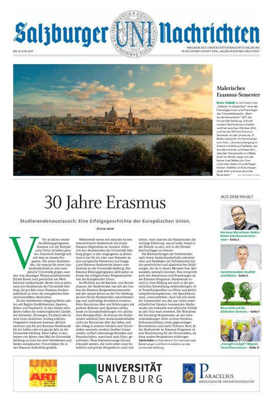 Bucheinband von 'Salzburger UNI Nachrichten, Band 2/2017'