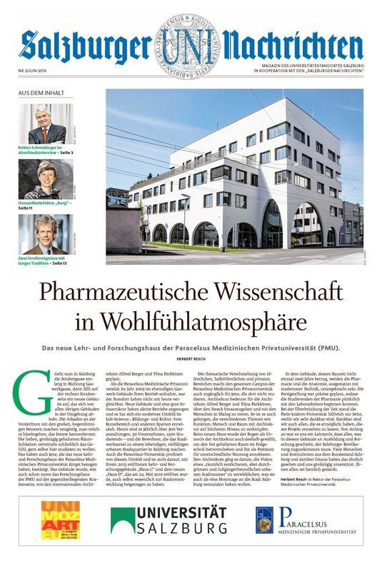 Bucheinband von 'Salzburger UNI Nachrichten, Band 2/2019'