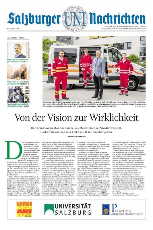 Bucheinband von 'Salzburger UNI Nachrichten, Band 2/2020'