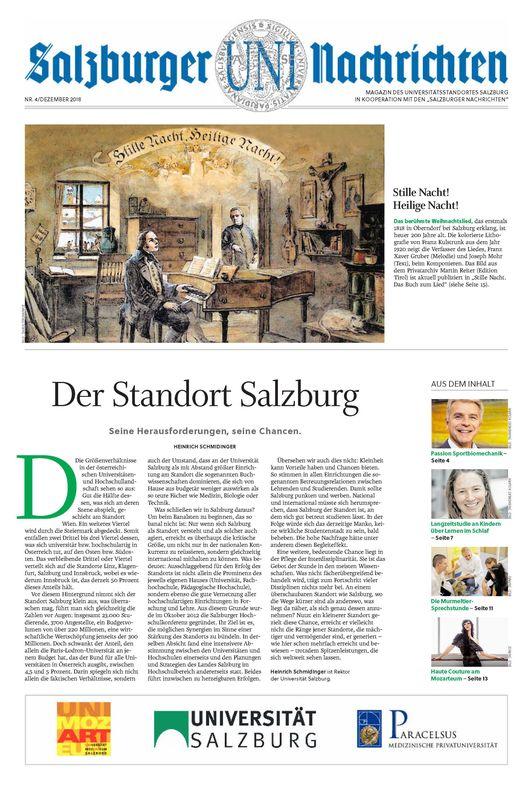 Cover of the book 'Salzburger UNI Nachrichten, Volume 4/2018'